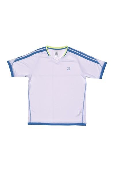 Kinetix A5131152 Beyaz Mavi Erkek T-Shirt