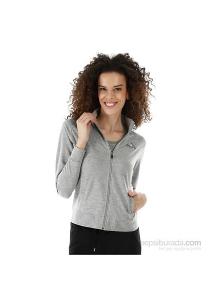 Kappa 1 302Y7N 77ML Bayan Kadın Sweatshirt Gri Melanj