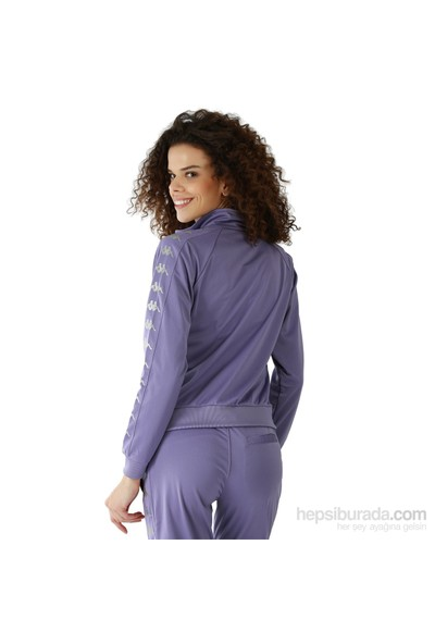 Kappa 1 302XOC 843S Bayan Kadın Raşel Şeritli Sweatshirt Mor