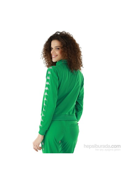 Kappa 1 302XOC T07L Bayan Kadın Raşel Şeritli Sweatshirt Yeşil