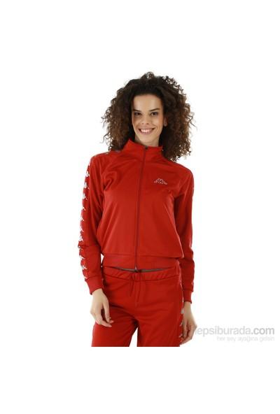 Kappa 1 302XOC 00EL Bayan Kadın Raşel Şeritli Sweatshirt Bordo