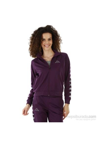 Kappa 1 302XOC 434L Bayan Kadın Raşel Şeritli Sweatshirt Mor