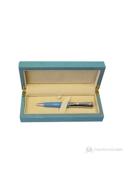 Steelpen Wood Mavi Tükenmez Kalem 915