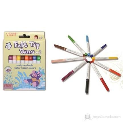 Vincent Felt Tip Pens 2 Iki Yaş Ve üstü Için Keçeli Boya Fiyatı