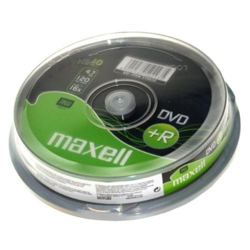Maxell DVD+R 16X 4,7GB 120MIN Data/Video 10'Lu Cakebox