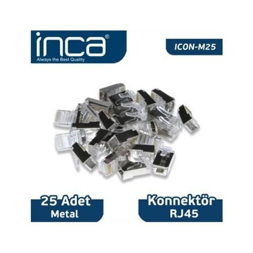 Inca Kablo Konnektör Inca Rj-45 25 Adet Metal Icon-M25