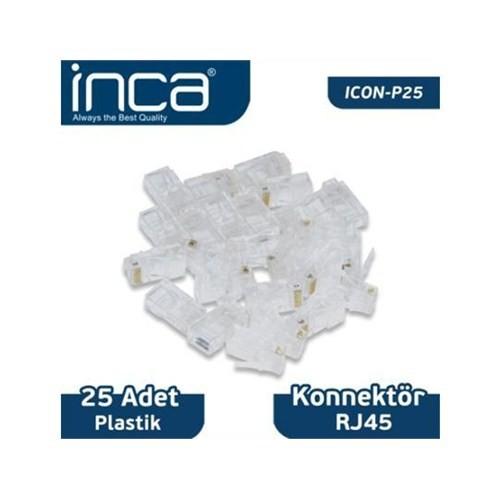 Inca Kablo Konnektör Inca Rj-45 25 Adet Plastik Icon-P25