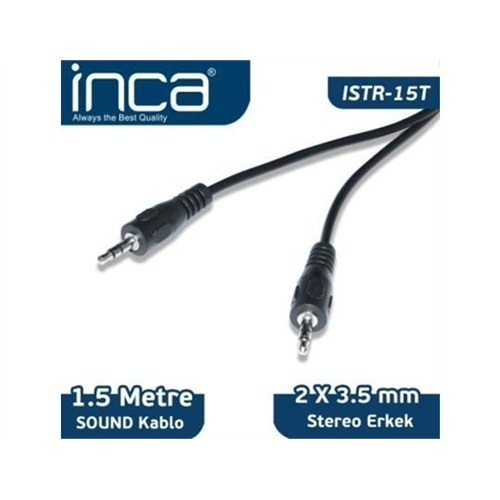 Inca Kablo Ses Inca Audio 3,5 Mm Stereo 1,5 Metre Istr-15T