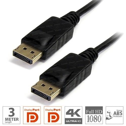 Dark 3 Metre DisplayPort Kablo (v1.2 2160P Altın Uçlu) (DK-CB-DPL300)