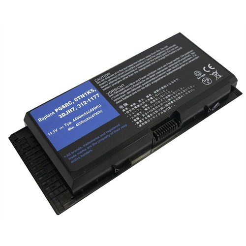 Retro RDL-143 Dell Precision M4600, M4700, M6600, M6700Li-ion 11.1V 4400mAh Siyah Notebook Bataryası