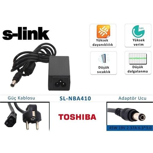 S-Link Sl-Nba410 45W 19V 2.37A 6.3*3.0 Toshiba Notebook Standart Adaptör
