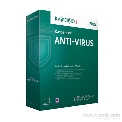 Kaspersky Antivirüs 2015 Türkçe 4 Kullanıcı 1 Yıl