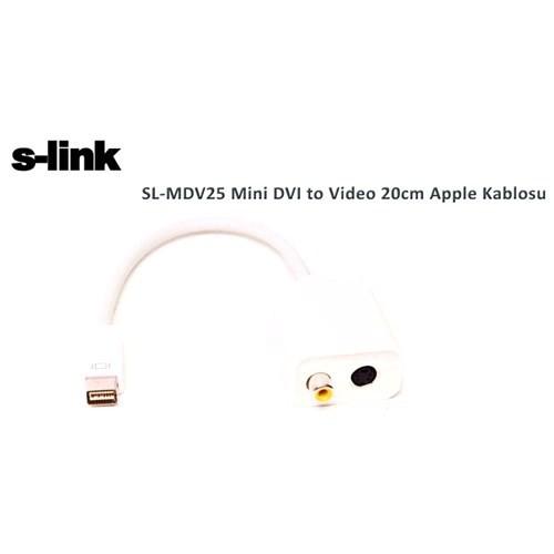 S-Link Sl-Mdv25 Mini Dvı To Video 20Cm Apple Kablosu