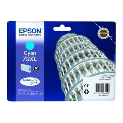 Epson C13t79024010 Singlepack Cyan 79Xl Durabrite Ultra Ink