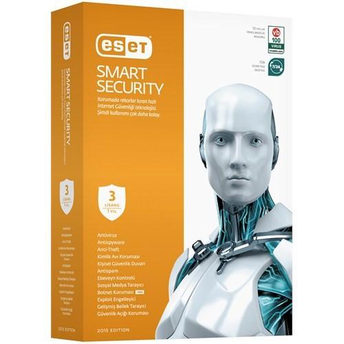 Eset Smart Security V.8.0 3 Kullanıcı 1 Yıl