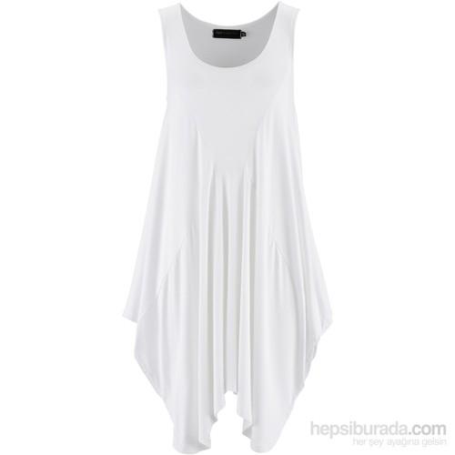 Bonprix Bpc Selection Uzun Bluz Beyaz