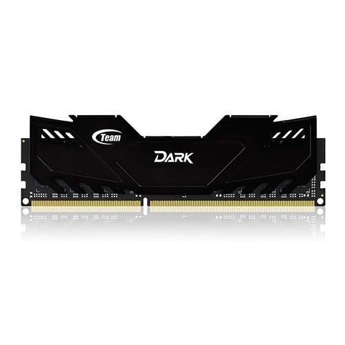 Team 16GB (2x8GB) 2400MHz DDR3 Overclocking Dark Series Gaming Soğutuculu Dual-Channel Ram Bellek (TM3D240082BLK)
