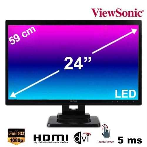 "Viewsonic TD2420 23.6"" 5ms (Analog+DVI+HDMI) Full HD Çoklu Dokunmatik LED Monitör"