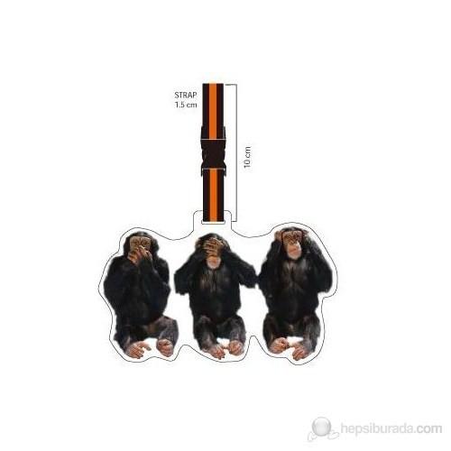 Nektar Lh173 3 Maymun Valiz Etiketi