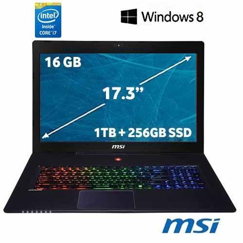 "MSI GS70 2OD(Stealth)-060TR Intel Core i7 4700HQ 2.4GHz / 3.4GHz 16GB 1TB + 256GB SSD 17.3"" Taşınabilir Bilgisayar"