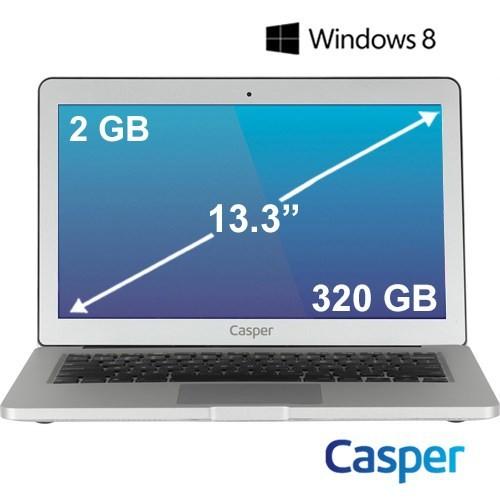 "Casper Nirvana CN.HBY847A Intel Celeron 847 1.1GHz 2GB 320GB 13.3"" Taşınabilir Bilgisayar"