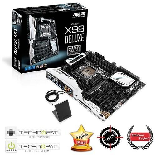 Asus X99-DELUXE Intel X99 3000MHz(OC) DDR4 LGA2011 ATX Anakart