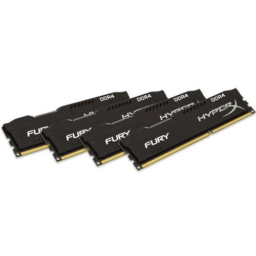 Kingston HyperX Fury Black 16GB(4x4) 2400MHz DDR4 Ram (HX424C15FBK4/16)