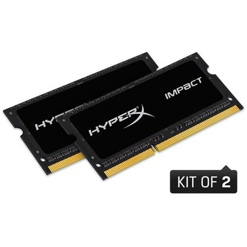 Kingston HyperX Impact Black 16GB(2x8GB) 1600MHz DDR3 Notebook Ram (HX316LS9IBK2/16)