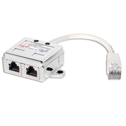 LogiLink NP0044 2 Port Modüler RJ45 Dağıtıcı, FTP