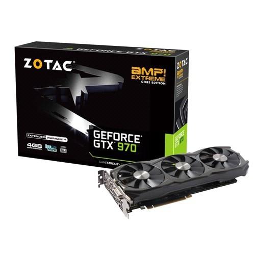 Zotac Nvidia GeForce GTX 970 AMP! Extreme Core Edition 4GB 256Bit GDDR5 (DX12) PCI-E 3.0 Ekran Kartı (ZT-90107-10P)