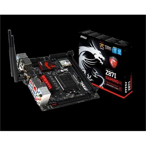 Msı Z87ı 1150Pin Z87 Dvı+Hdmı+Dp Ddr3 Sata3 Raıd 1Gb Vga Usb3 Mini Itx
