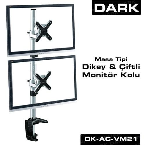 Dark 2 Adet Dikey Monitör Takılaben, Masa Monte Monitör Kolu (DK-AC-VM21)