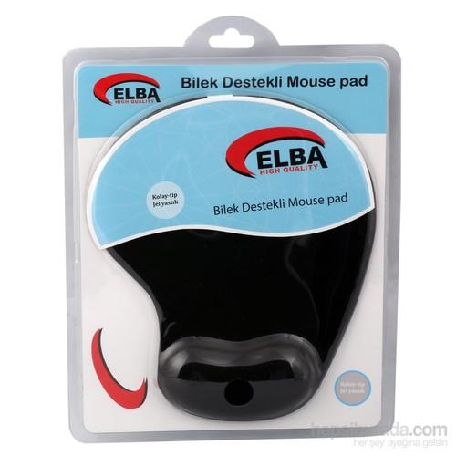 Elba K06152 Bileklikli Jel Mouse Pad Siyah