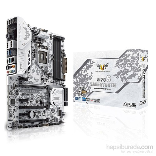 Asus SABERTOOTH Z170 S Intel Z170 2400MHz DDR4 Soket 1151 ATX Anakart