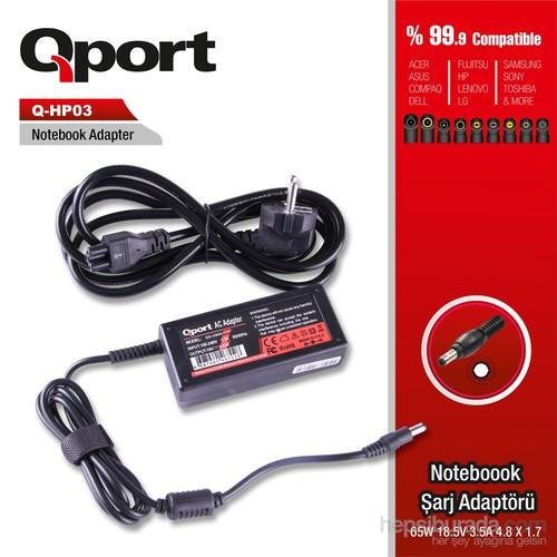 Qport HP 65W 18.5V 3.5A 4.8*1.7 Hp Notebook Standart Adaptor (QS-HP03)