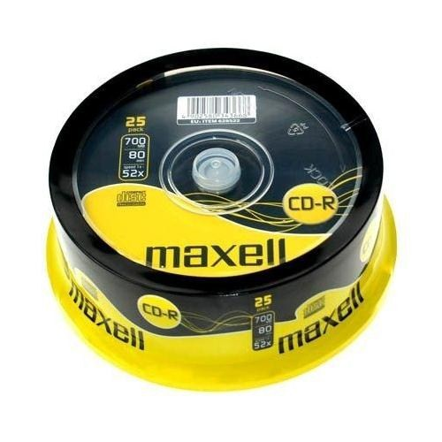 Maxell CD-R 80DK 52X 25'li Cakebox
