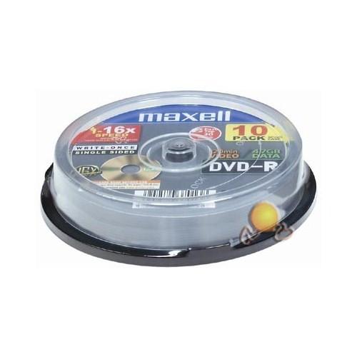 Maxell DVD-R 16X 4,7GB 120Min Data/Video 10'LU Cake Box