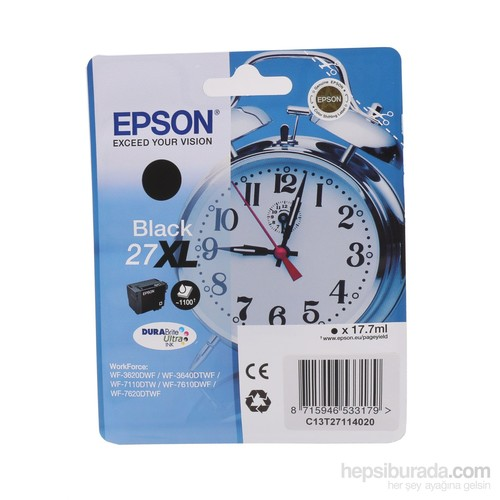 Epson 27XL Siyah Mürekkep Kartuşu