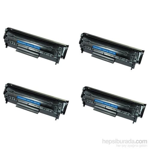Retech Canon İ Sensys Lbp3300 Toner Muadil Yazıcı Kartuş 4 Lü Ekonomik Paket