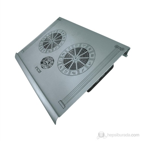 "Inca INC-354BX Aluminyum Özel Dizayn Süper Sessiz 2x70 mm Çift Fan USB HUB 7""-17"" Notebook Soğutucu"