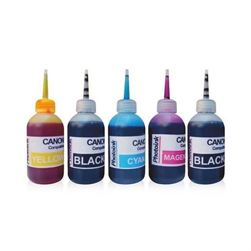 Photo Ink 5 Kartuşlu Canon Yazıcılar İçin Uyumlu 5 Adet 100 Ml Mürekkep Seti