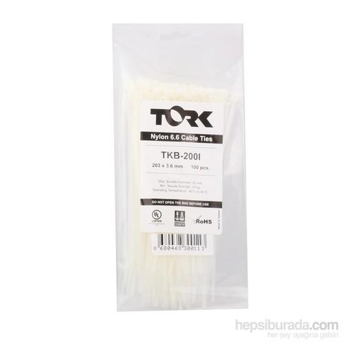 Tork Beyaz Kablo Bağı 3.6-203 100Lü Paket