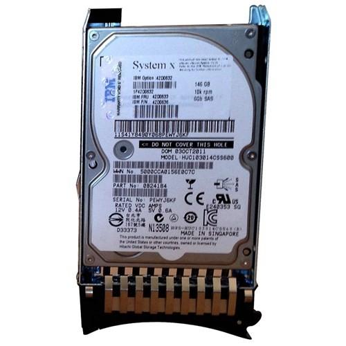 "IBM 146GB 10000RPM 6Gb/s SFF Slim SAS 2.5"" Hot Swap Disk (42D0632)"