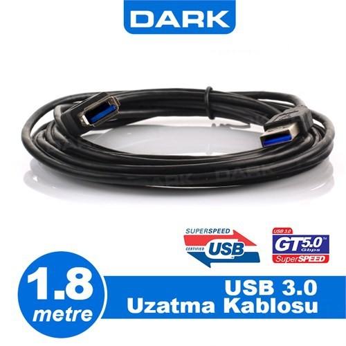 Dark USB 3.0 1.8m Uzatma Kablosu USB3.0 A Tip ( DK-CB-USB3EXTL180)