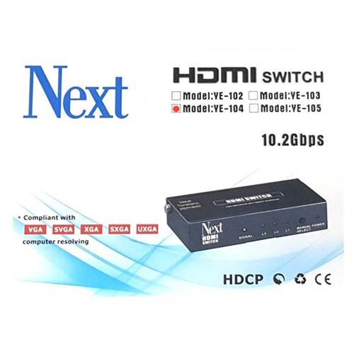 Next Ye-104 4X1 Hdmı Switch - 4 Port Kumandalı