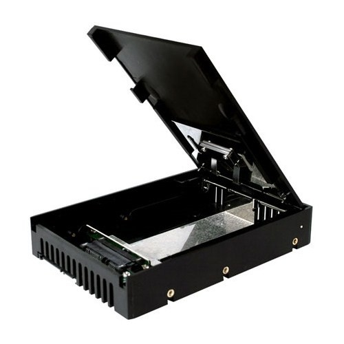 "Icy Dock EZConvert 2,5"" x 1 Yuva 3.5 inç Çevirici Disk Kutusu (MB882SP-1S-1B)"