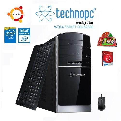 Technopc W014 Smart FD182501 Intel Celeron J1800 2.41GHz 2GB 500GB Masaüstü Bilgisayar + Antivirüs + İngilizce Seti Hediyeli