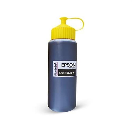 Epson Plotter İçin Uyumlu 500 Ml Pigment Light Black Mürekkep Photo Ink Akıllı Mürekkep