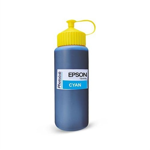 Epson Plotter İçin Uyumlu 500 Ml Pigment Cyan Mürekkep Photo Ink Akıllı Mürekkep