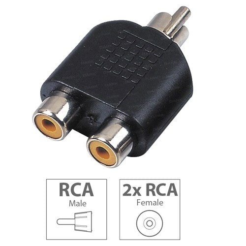 Dark RCA Erkek - 2 x RCA Dişi Dönüştürücü Adaptör (DK-CB-AURCAX2)
